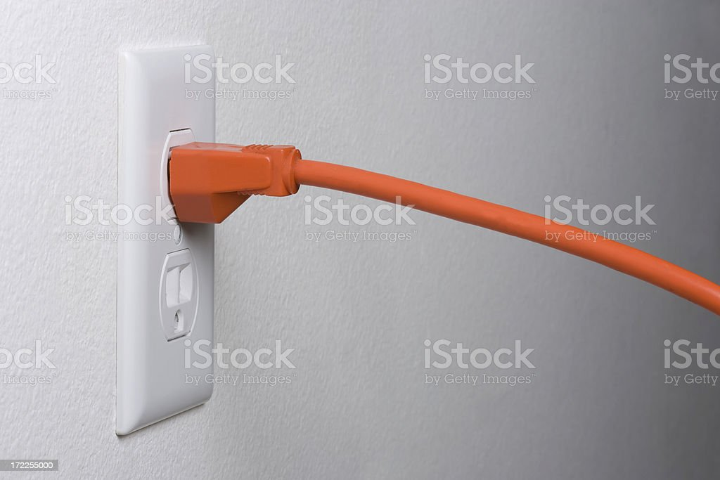 Pluged In royalty-free stock photo