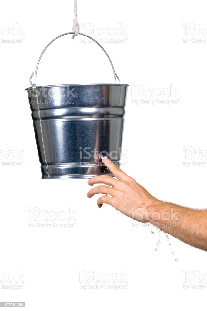 Plugging the Leak royalty-free stock photo