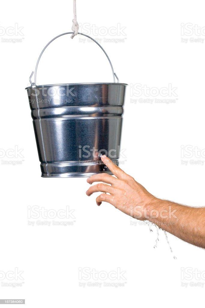 Plugging the Leak stock photo