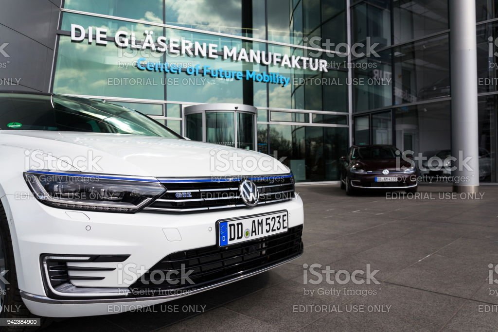 plugin hybrid volkswagen golf gte and egolf electric cars stand