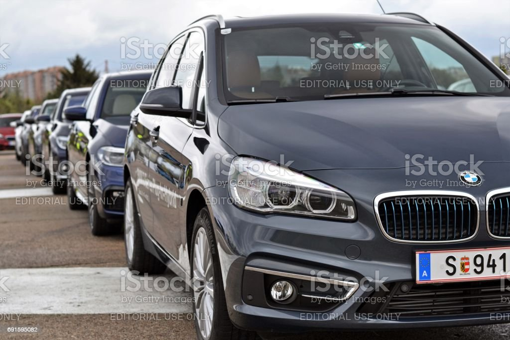 BMW Plug-in vehicles stock photo