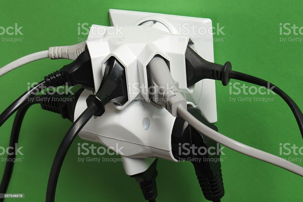 Plugs and outlet stock photo