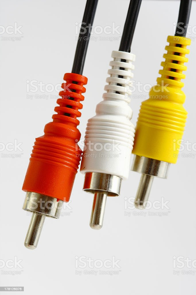 plugs on the white background royalty-free stock photo