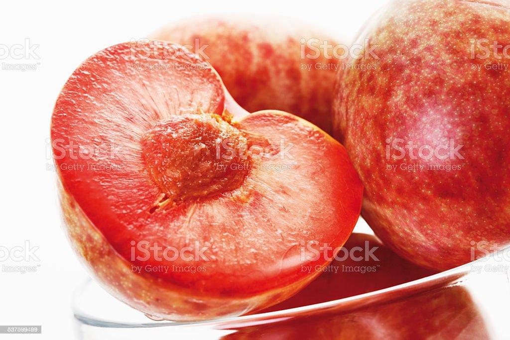 Plum and apricot hybrid stock photo