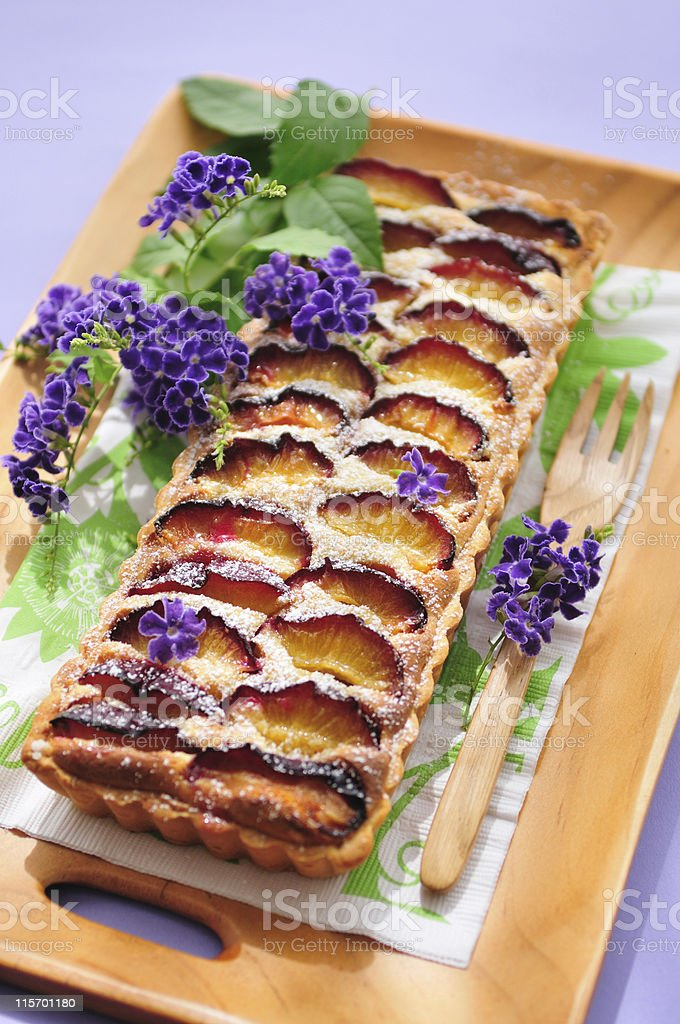 Plum Frangipane Tart royalty-free stock photo