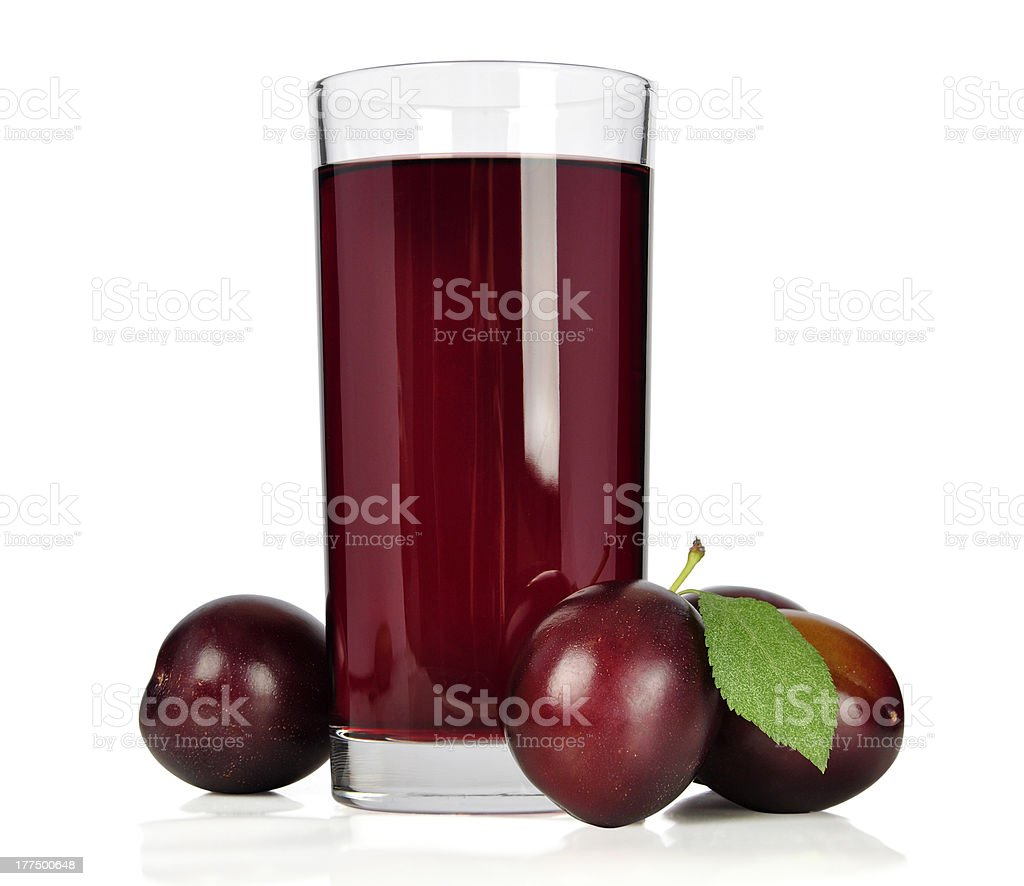 plum juice stock photo