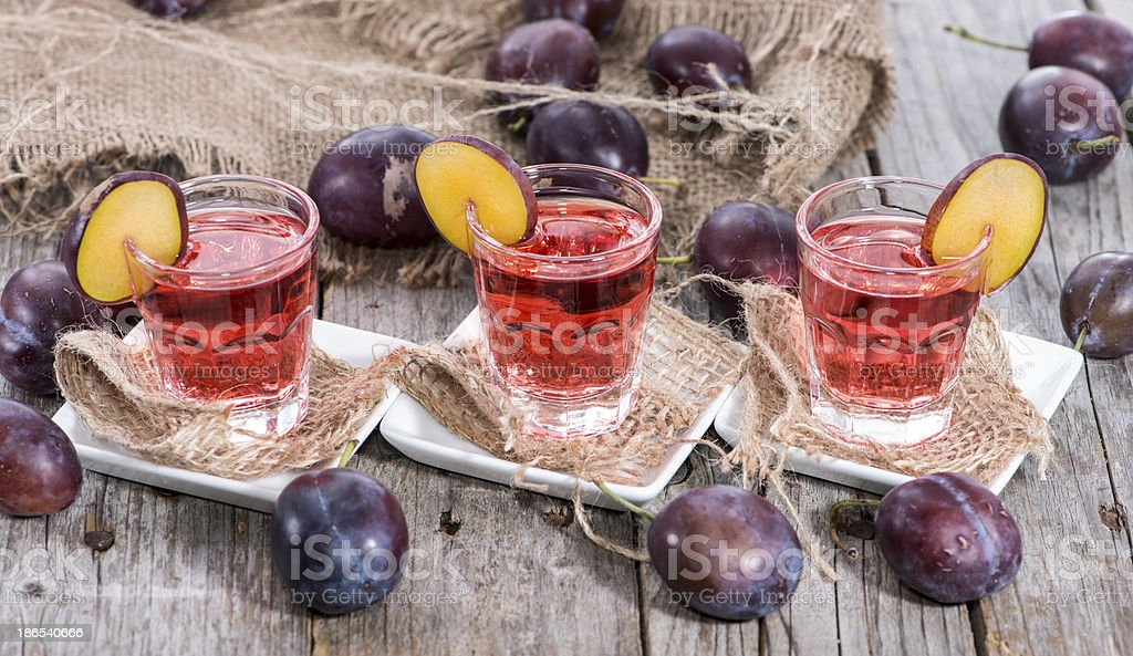 Plum Liqueur royalty-free stock photo