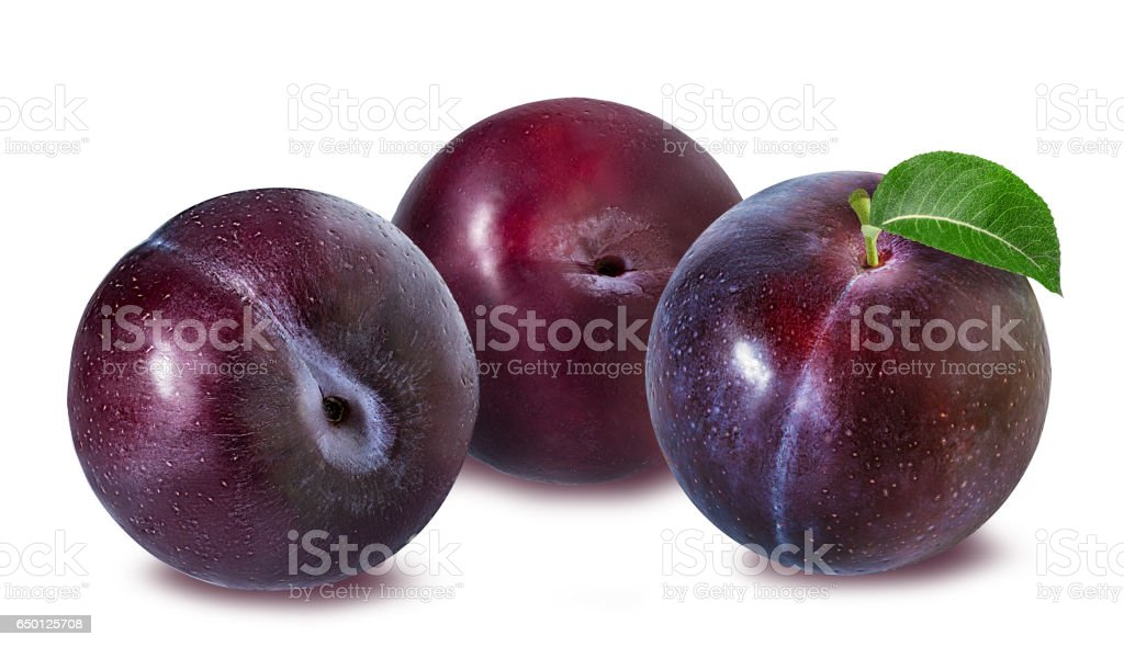 plum on a white stock photo