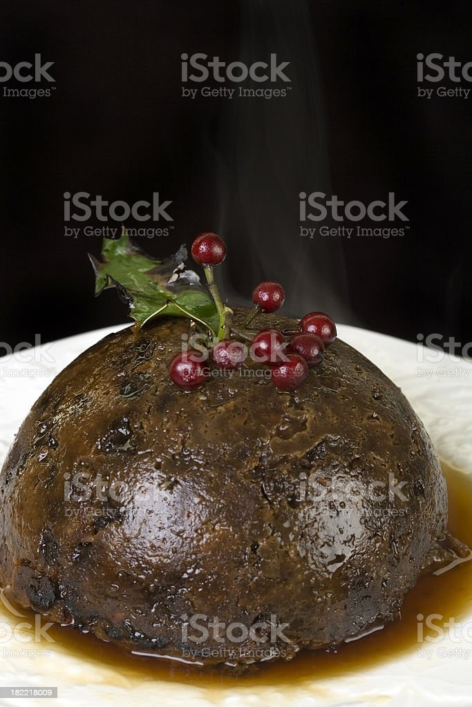 plum pudding royalty-free stock photo