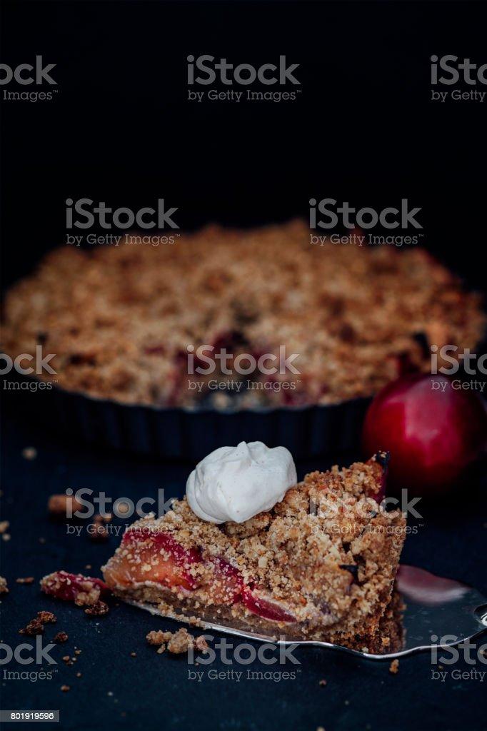 Plum Tart stock photo