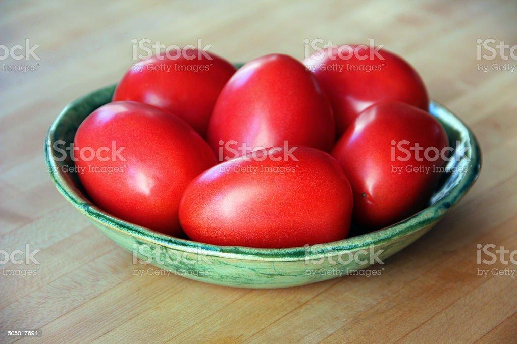 Plum Tomatoes stock photo