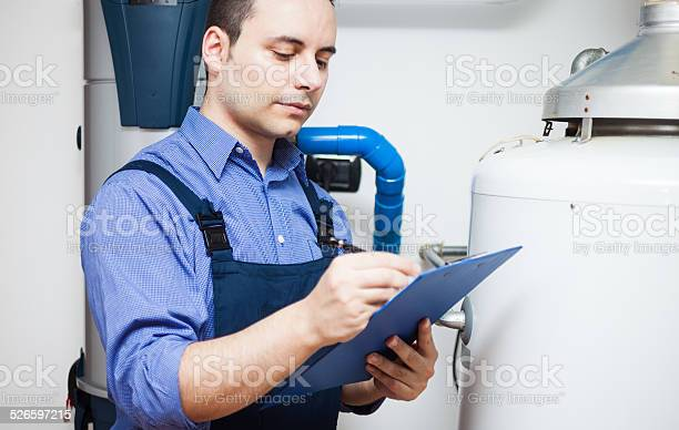 Plumber At Work Stock Photo - Download Image Now