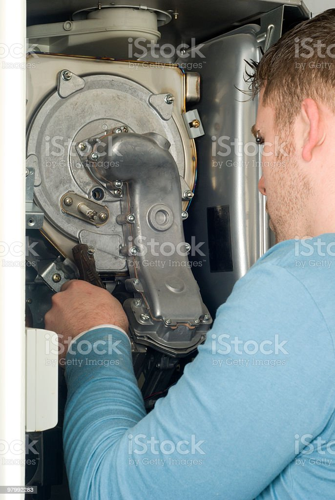 Plumber at work royalty-free stock photo