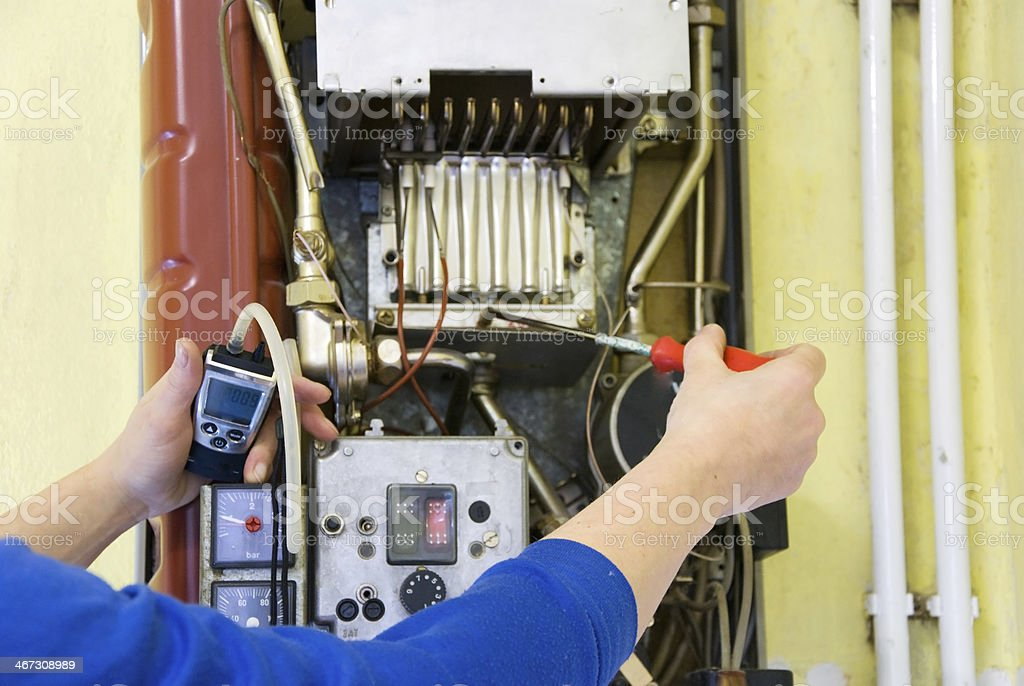 plumber fumes stock photo
