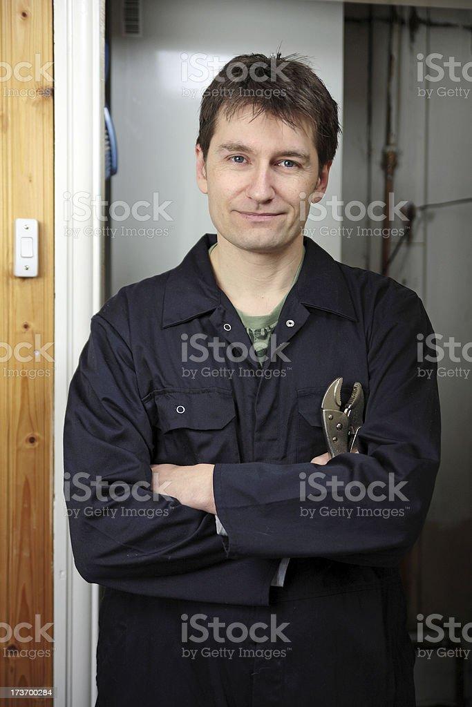 Plumber or Mechanic stock photo