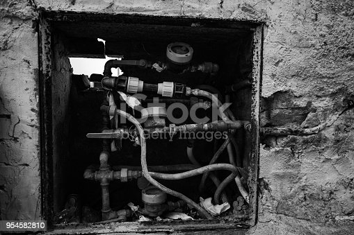 istock Plumber Pipes and Gas system 954582810