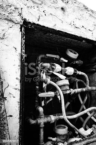 istock Plumber Pipes and Gas system 954582912