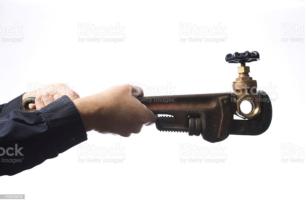 Plumber tool royalty-free stock photo