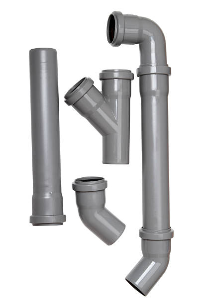 Plumber tubes Plumber tubes for water isolated on a white background pvc stock pictures, royalty-free photos & images