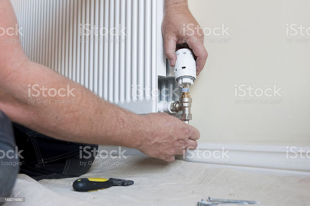 Plumber Working royalty-free stock photo