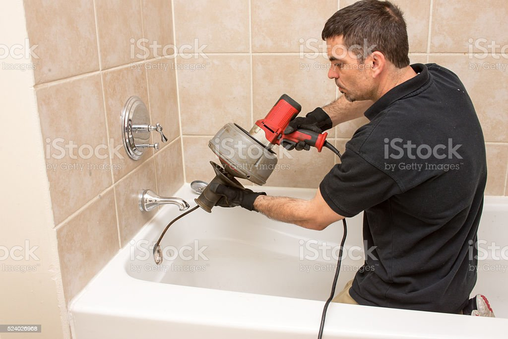 Plumber Working stock photo