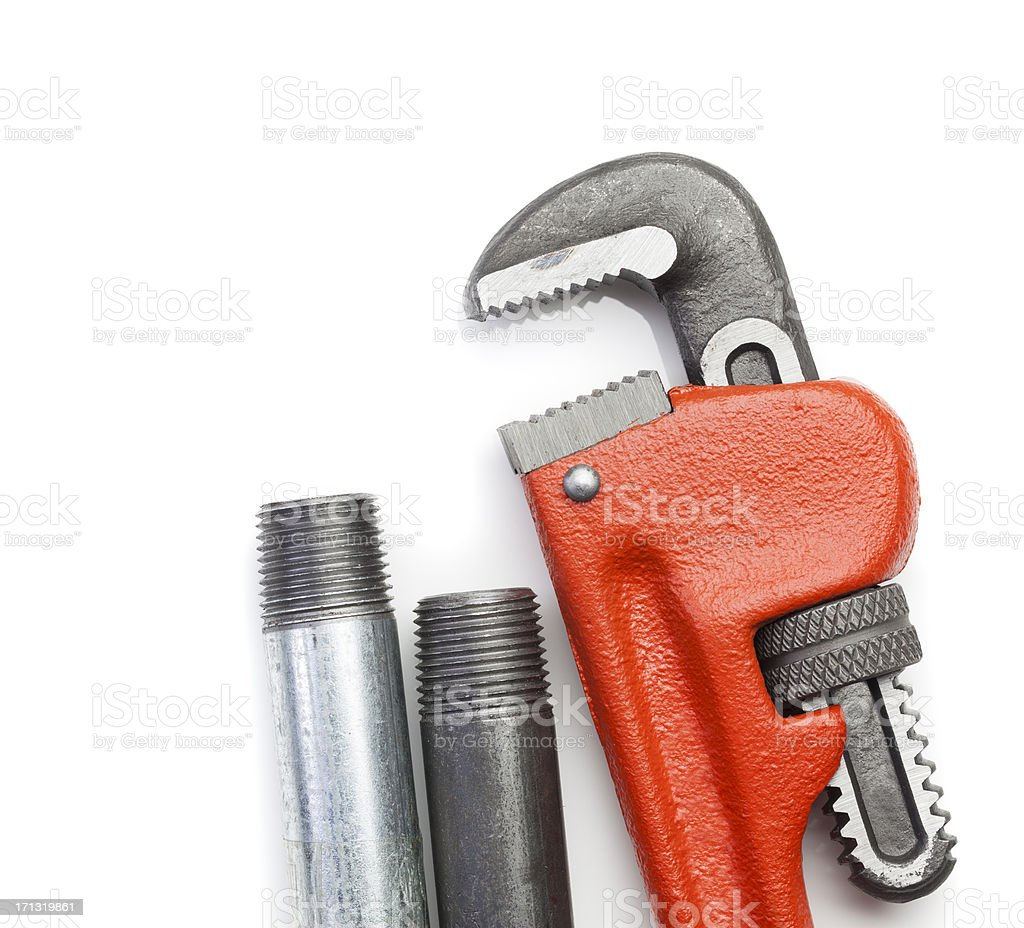 Plumber's Tools royalty-free stock photo