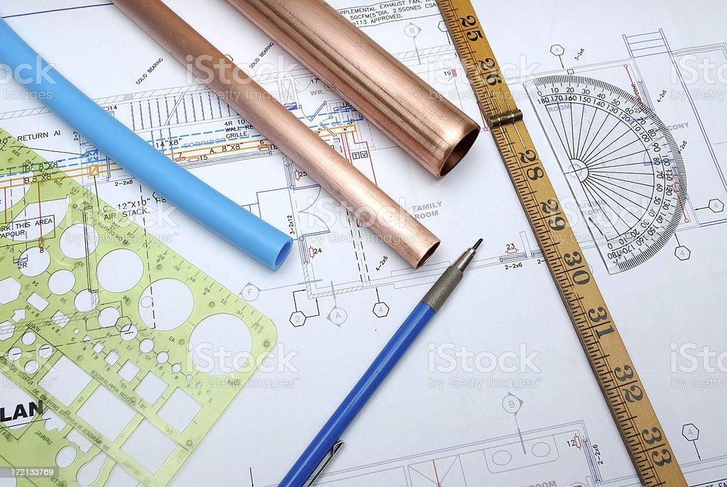 plumbing design royalty-free stock photo