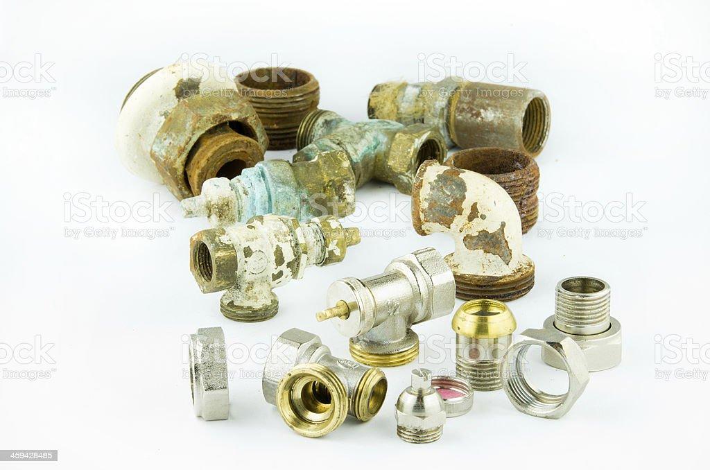 Plumbing elements royalty-free stock photo