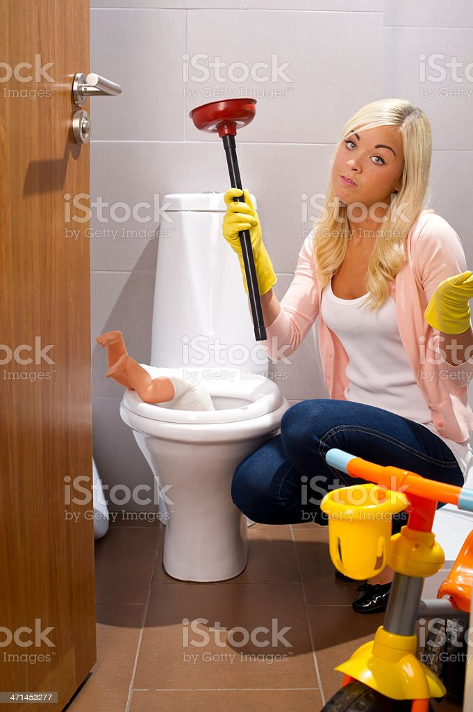plumbing emergency stock photo