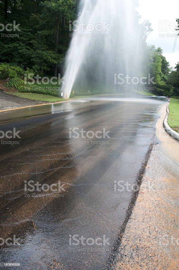 Plumbing Emergency: Water Main Break stock photo