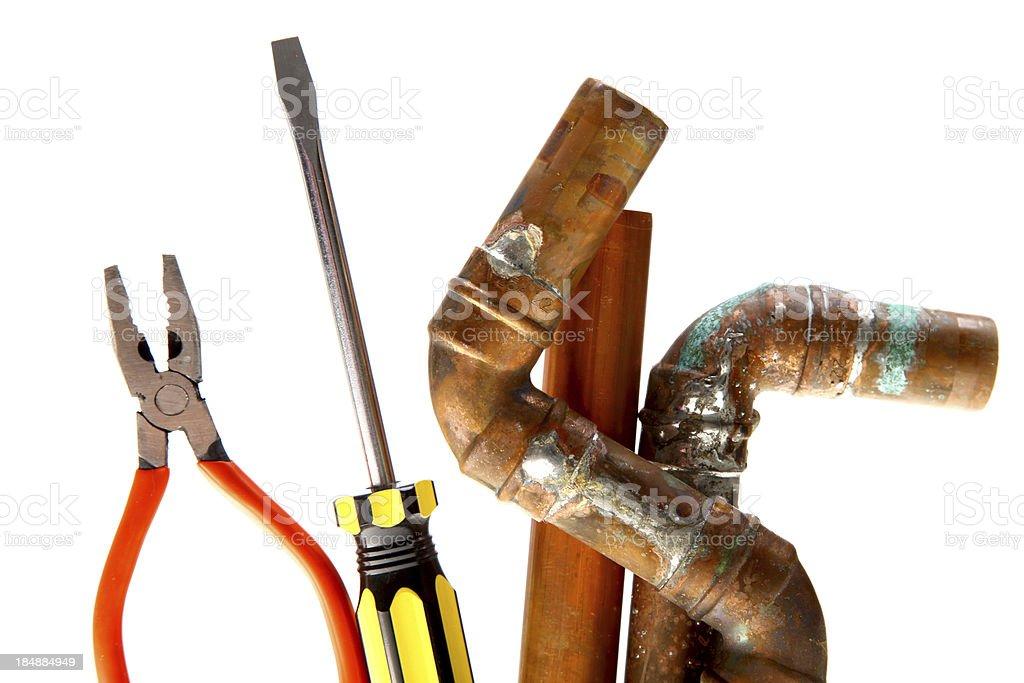 Plumbing equipment royalty-free stock photo