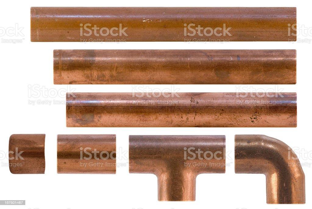 plumbing fittings royalty-free stock photo