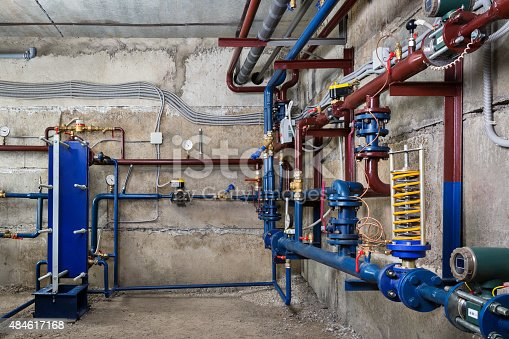 istock plumbing in the basement 484617168