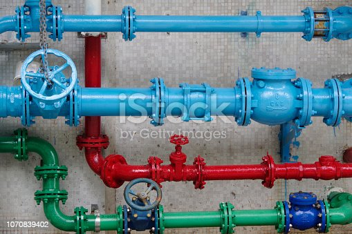 Colorful plumbing