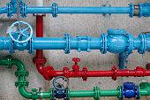Colorful plumbing
