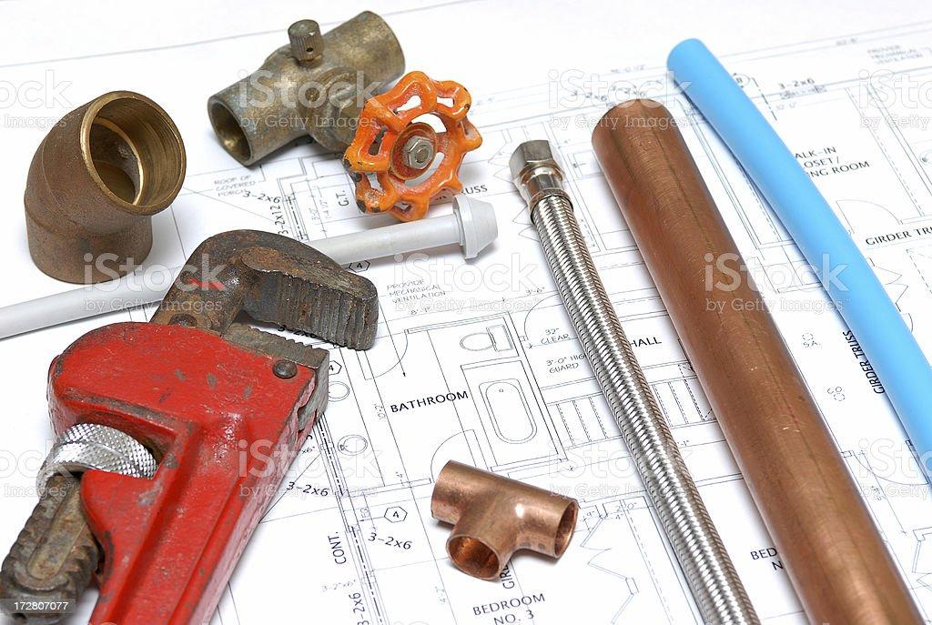 plumbing royalty-free stock photo