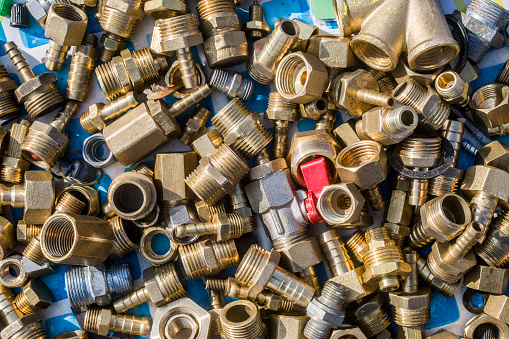 plumbing pipe connectors, corners, fittings, nipples