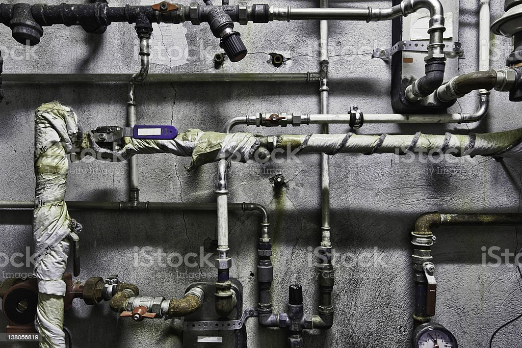 Plumbing pipes royalty-free stock photo