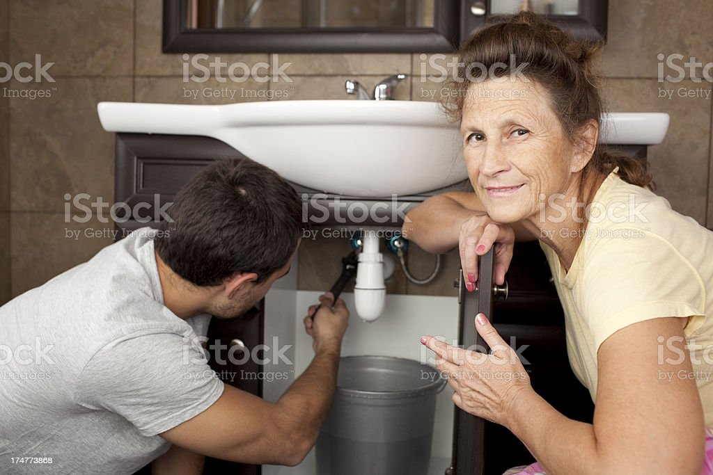 Plumbing Services. royalty-free stock photo