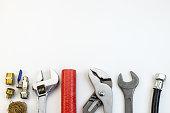 istock plumbing tools and equipment top view 911046000