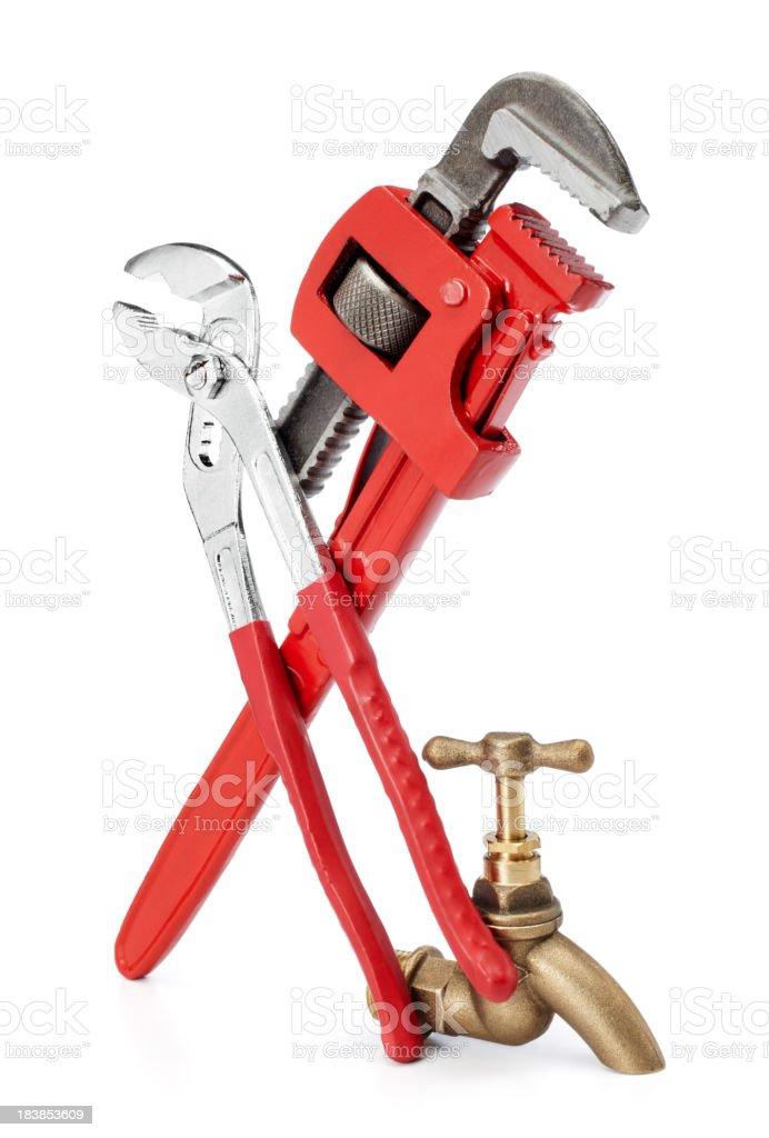 plumbing tools stock photo