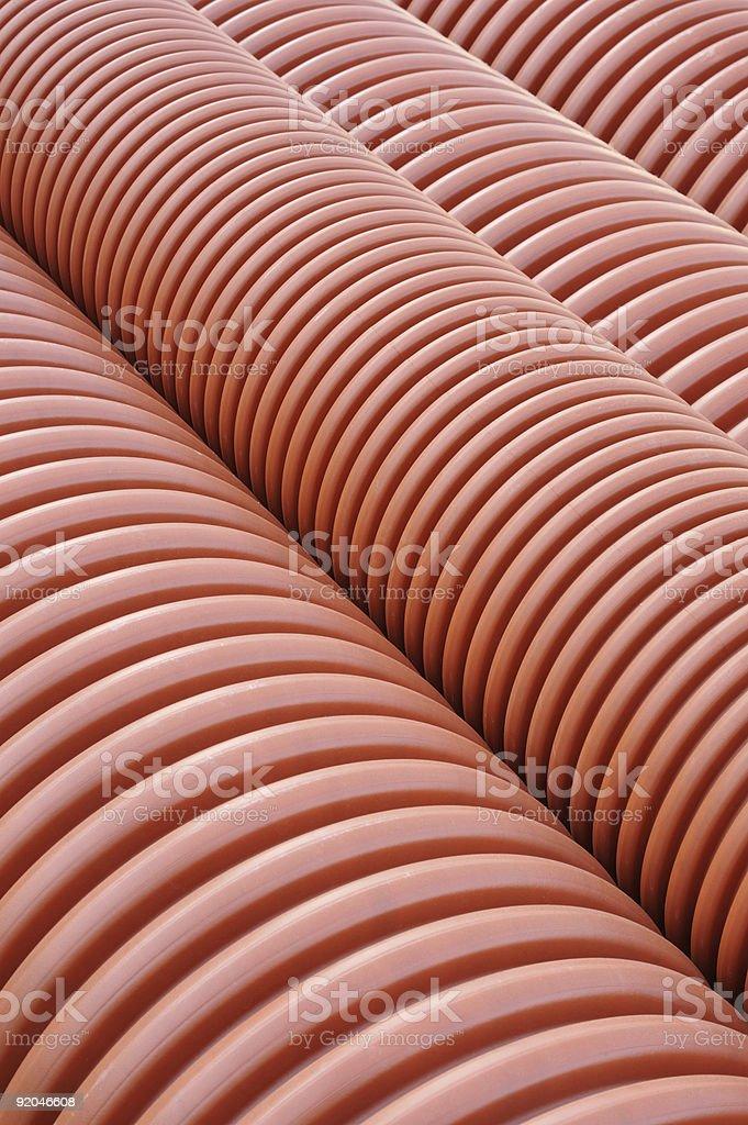 Plumbing tubes close-up royalty-free stock photo