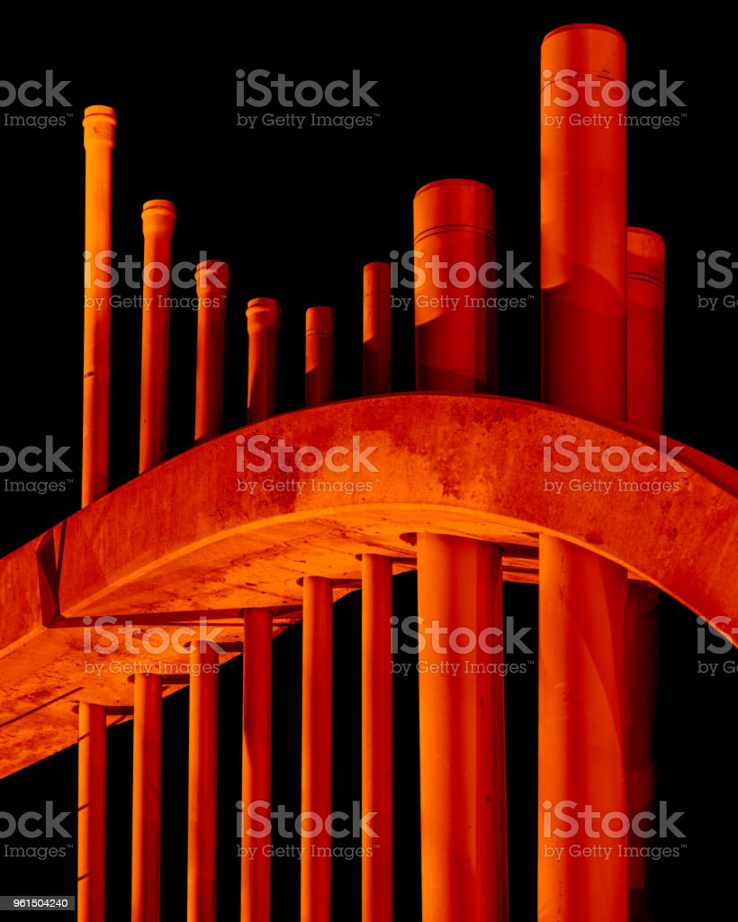 Plumbing Under Construction Study No. 1: Glenwood Springs, CO stock photo