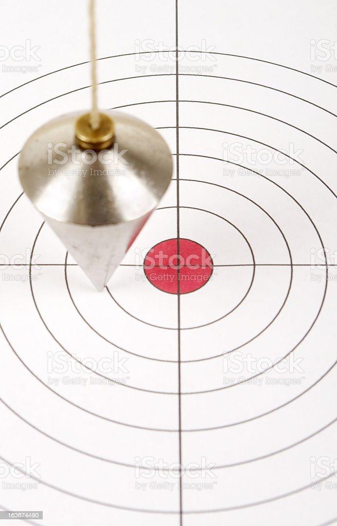 Plumbline Over Target stock photo