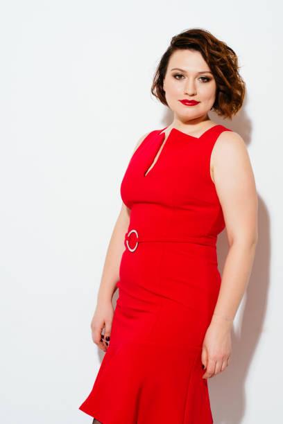 Vestidos Rojos Para Gorditas Banco De Fotos E Imágenes De