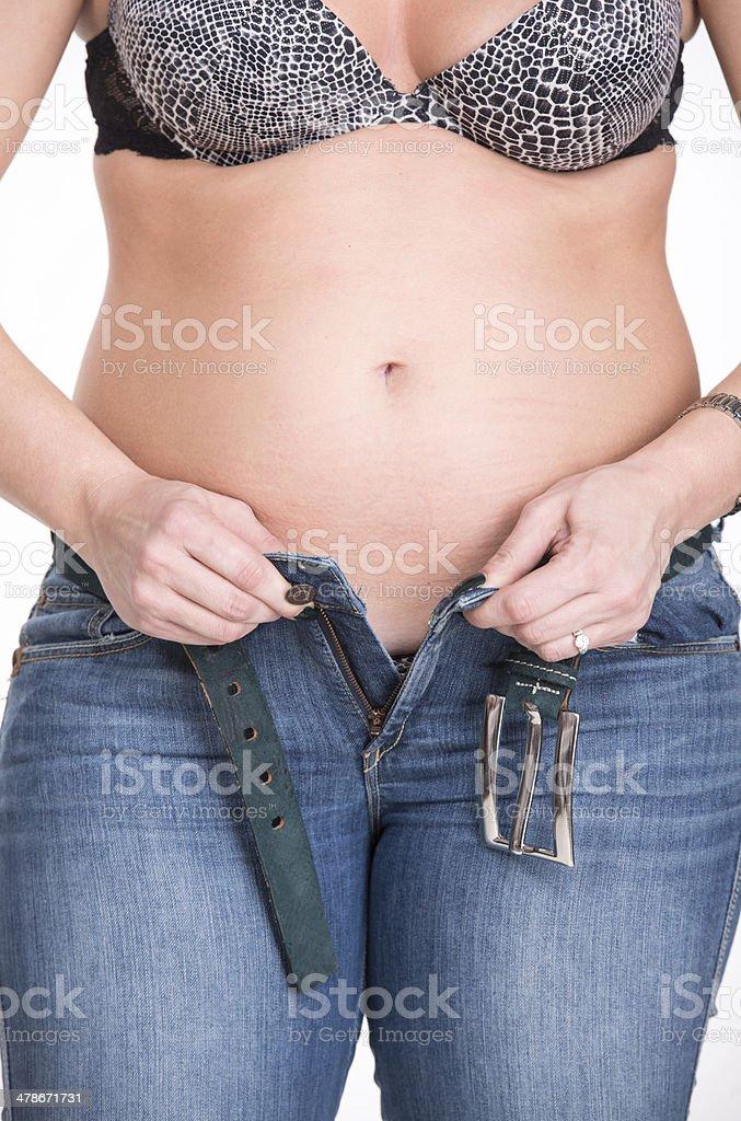 Plump woman stock photo