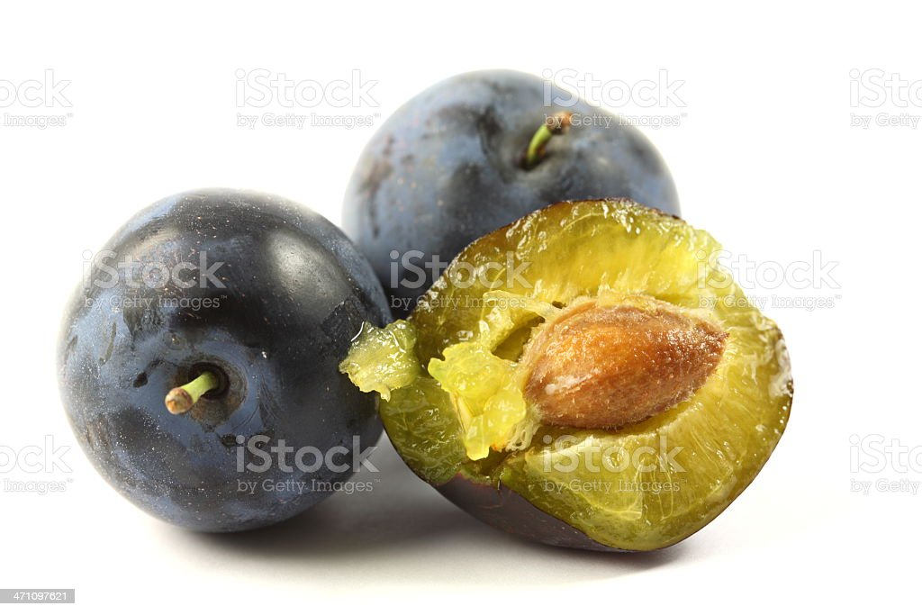 Plums - isolated on white royalty-free stock photo