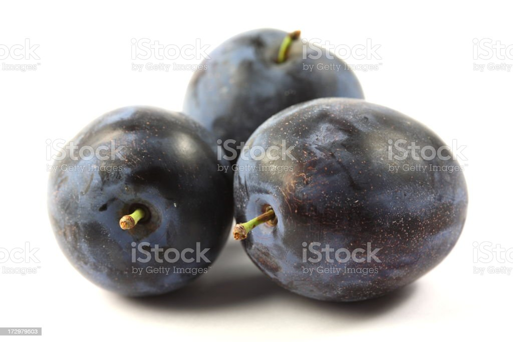 Plums on White royalty-free stock photo