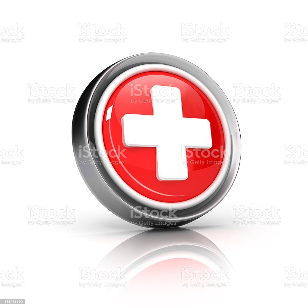 Plus or First aid icon stock photo