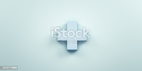 istock Plus sign. 3D Render Illustration 1010774688